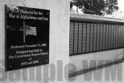Tarrant County College Northwest TX Afghanistan Iraq War Memorial 4.jpg