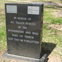 Llano County TX Afghanistan and Iraq Wars Memorial.JPG