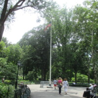 Red Cross WWI and WWII Memorial Flagpole Central Park NYC.JPG