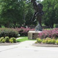 Iron Mike Airborne Memorial Statue Ft Bragg NC.JPG