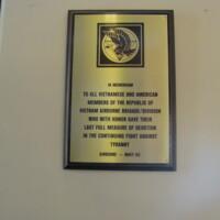 Republic of Vietnam Airborne  BRG DIV Plaque Ft Bragg NC.JPG